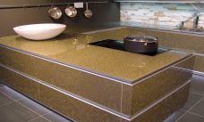 Küchenarbeitsplatte aus Crashglas, Arbeitsplatte Konfigurieren