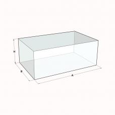 Terrariumscheiben aus Floatglas Durchsichtig, Polierte Kante