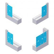Badewannen-Aufsatz - aus ESG Glas (Einscheibensicherheitsglas)