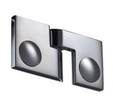Duschtürband Plan artist, Glas-Glas 180°, DIN rechts, Glanzverchromt