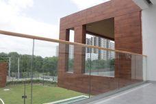Glaszaun Bodenmontage - Sicherheitsglas