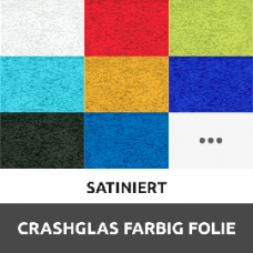 Crashglas Farbig Folie Satiniert