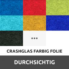 Crashglas Farbig Folie durchsichtig