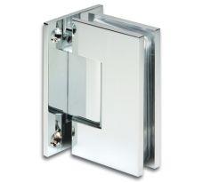 Duschtürband Bilbao, Select Glas-Wand 90°, beidseitige Wandmontage, Edelstahleffekt