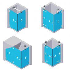 Eck Duschen - aus ESG Glas (Einscheibensicherheitsglas)