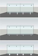 Balkongeländer Montage mit Bodenglasklemmen- Sicherheitsglas