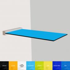 Glas-Stehtisch, Bistrotisch aus VSG glas durch farbige Folie (Matt)