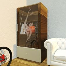 Glasfront für möbel aus ESG Glas Durchsichtig mit Motive Sandstrahlen Konfigurieren
