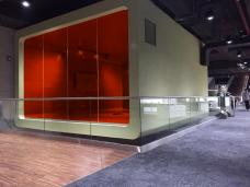 Glaswande Aussen - VSG glas durch farbige Folie (durchsichtig)