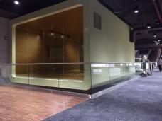 Glaswande Aussen - VSG getöntes Glas durchsichtig
