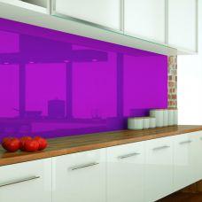 Küchenrückwand aus ESG Optiwhite, Lackierte