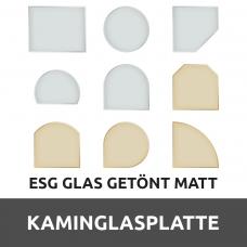 Kaminglasplatte aus ESG getöntes Glas Matt