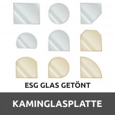 Kaminglasplatte aus ESG getöntes Glas durchsichtig