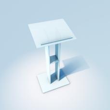 Glas Rednerpult, Katheder aus ESG Glas Matt