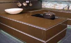 Küchenarbeitsplatte aus ESG getöntes Glas durchsichtig