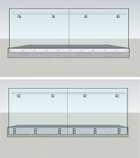 Ganzglasgeländer Aussen, Seitenmontage - Sicherheitsglas