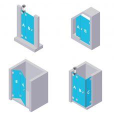 Nischen Duschabtrennung - aus ESG Glas (Einscheibensicherheitsglas)