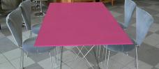 Tischplatte aus ESG Optiwhite Lackiert
