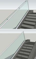 Treppengeländer, Boden Montage