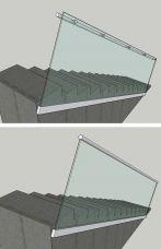 Treppengeländer, Seiten Montage