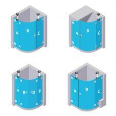 Glas für Viertelkreis-Dusche - aus ESG Glas (Einscheibensicherheitsglas), 8 mm