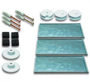 Druckknopfset für Spiegelgrößen bis 2,6 m²
