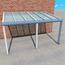 Carportüberdachung aus VSG Glas (Klar)