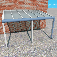 Carportüberdachung aus VSG Glas (Matt)