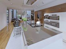 Küchenarbeitsplatte aus ESG Klar, Arbeitsplatte
