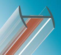 Verbindungsprofil flaches H-Profil, Glasdicke - ESG/VSG 10/10,8 mm
