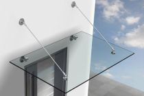 Glas Vordach VSG aus TVG mit Vordachsystem Bohle Classic