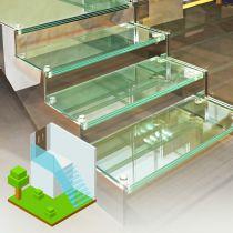Glastreppen aus VSG, Begehbares Klar Sicherheitsglas