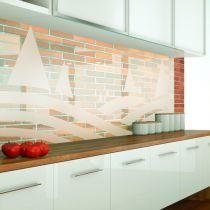 Küchenrückwand aus ESG Durchsichtig mit Motive Sandstrahlen Konfigurieren