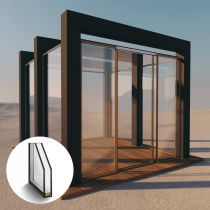 Pavillon aus 2 Fach Isolierglas