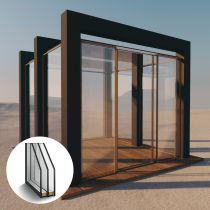 Pavillon aus 3 Fach Isolierglas