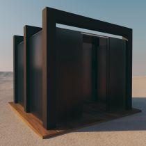 Glas für Pavillon aus VSG getöntes Glas Matt Konfigurieren