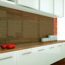 Küchenrückwand aus ESG getöntes Glas Matt Konfigurieren