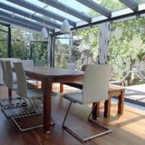 Glas für Veranda aus VSG Klar mit Motive Sandstrahlen Konfigurieren