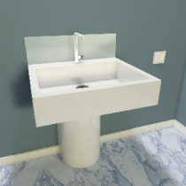 Spritzschutz für Waschbecken aus ESG Satiniert