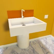 Spritzschutz für Waschbecken aus ESG getöntes Glas Matt Konfigurieren