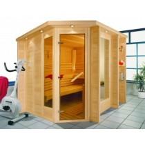 Saunatür mit Saunaglastrennwand