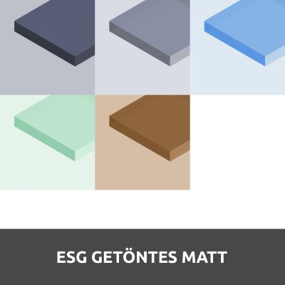 ESG getöntes Glas Matt